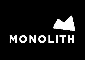 Monolith white logo